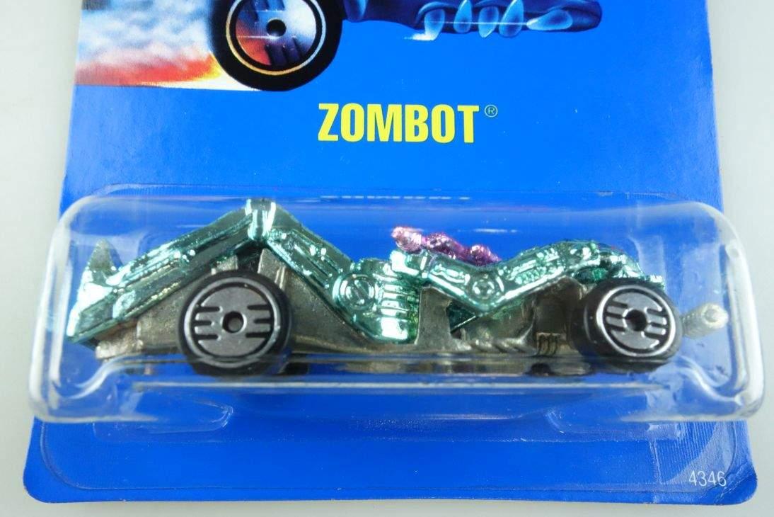 Zombot Hot Wheels Mattel 4346 Malaysia mint blue card MOC 1:64 104511