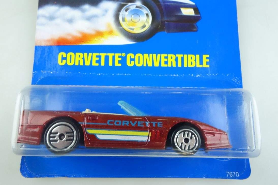 Corvette Convertible Hot Wheels Mattel 7670 Malaysia mint blue card MOC 104533
