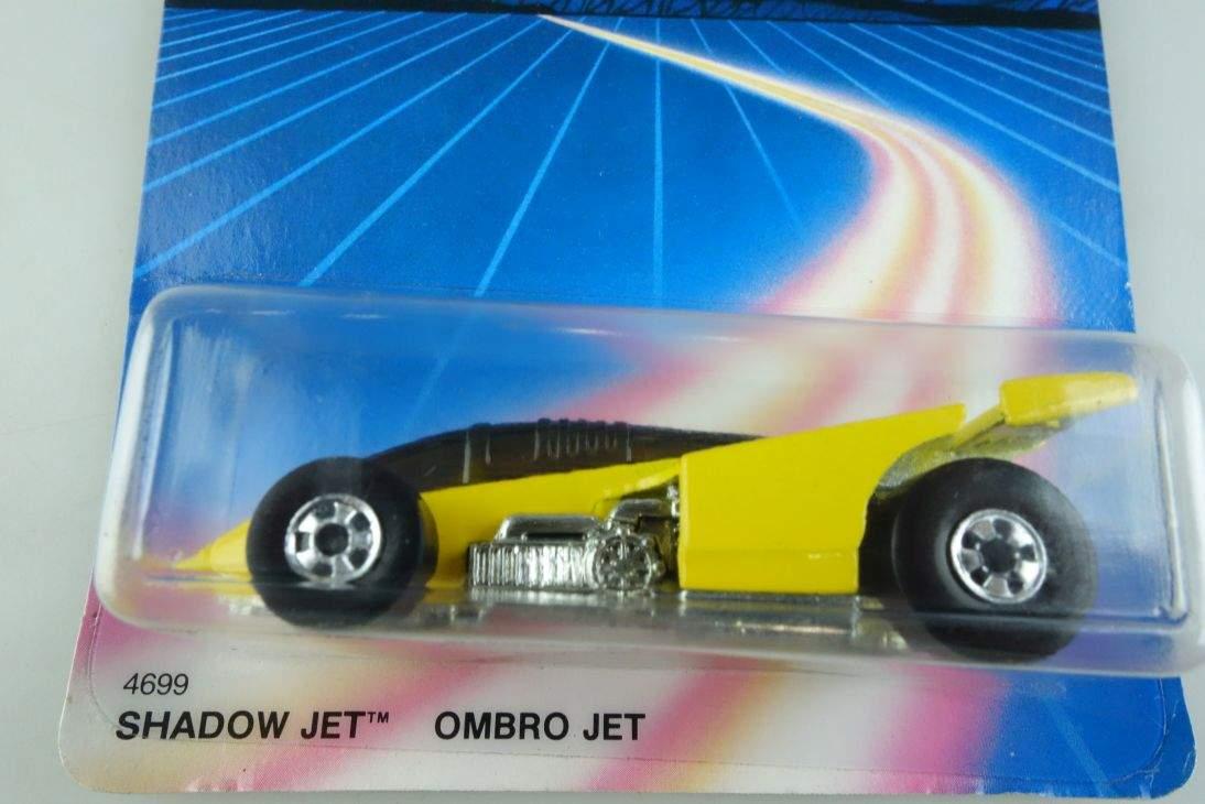 Shadow Jet Ombro Hot Wheels Mattel 4699 Malaysia mint blue card MOC 1:64 104537