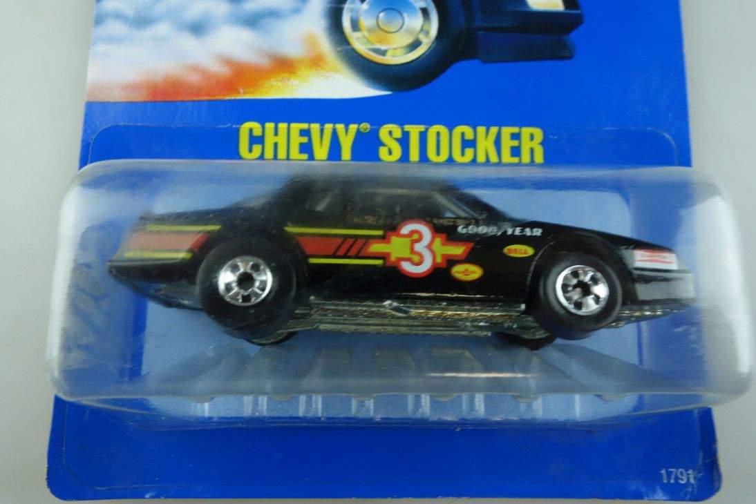 Chevy Stocker Hot Wheels Mattel 1791 Malaysia mint blue card MOC 1:64 104563