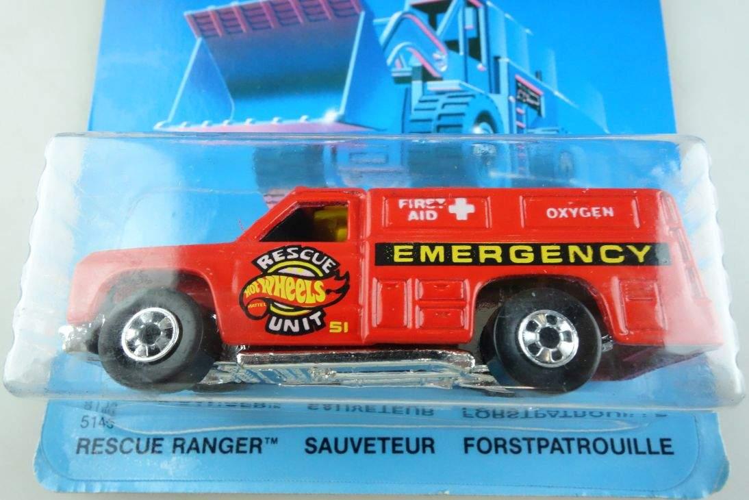 Rescue Ranger Hot Wheels Mattel 5145 Dodge Malaysia mint blue card MOC 64 104568