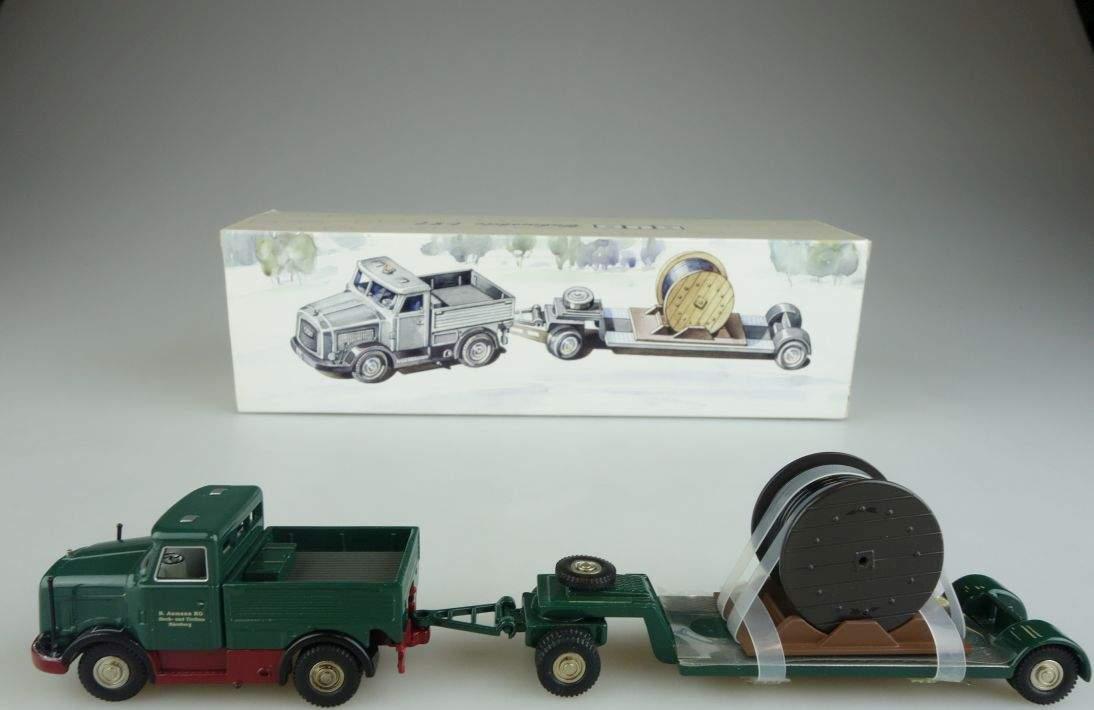 BUB 07050 Kaelble K650 mit Tieflader B. Aumann KG grün Bubmobile 1:87 103996