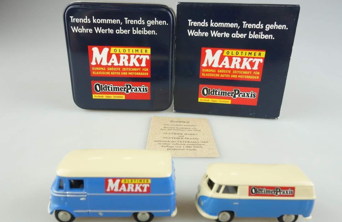 BUB Mercedes Benz L319 und VW T1 Oldtimer Markt und Oldtimer Praxis 1:87 104058