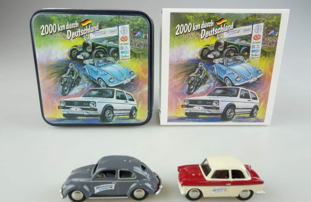 BUB Trabant P50 und VW Käfer 2000 km durch Deutschland 1:87 104060