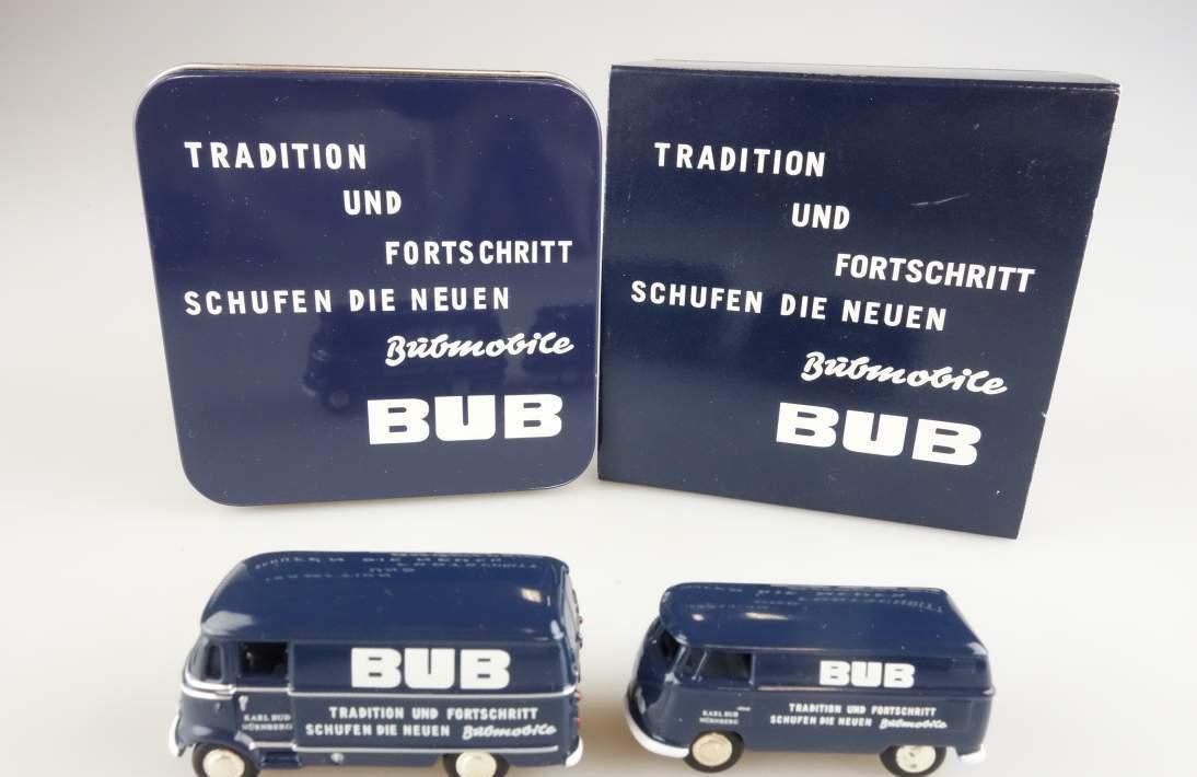 """BUB 06900 Mercedes Benz L319 und VW T1 """" Tradition und Fortschritt """" 1:87 104066"""