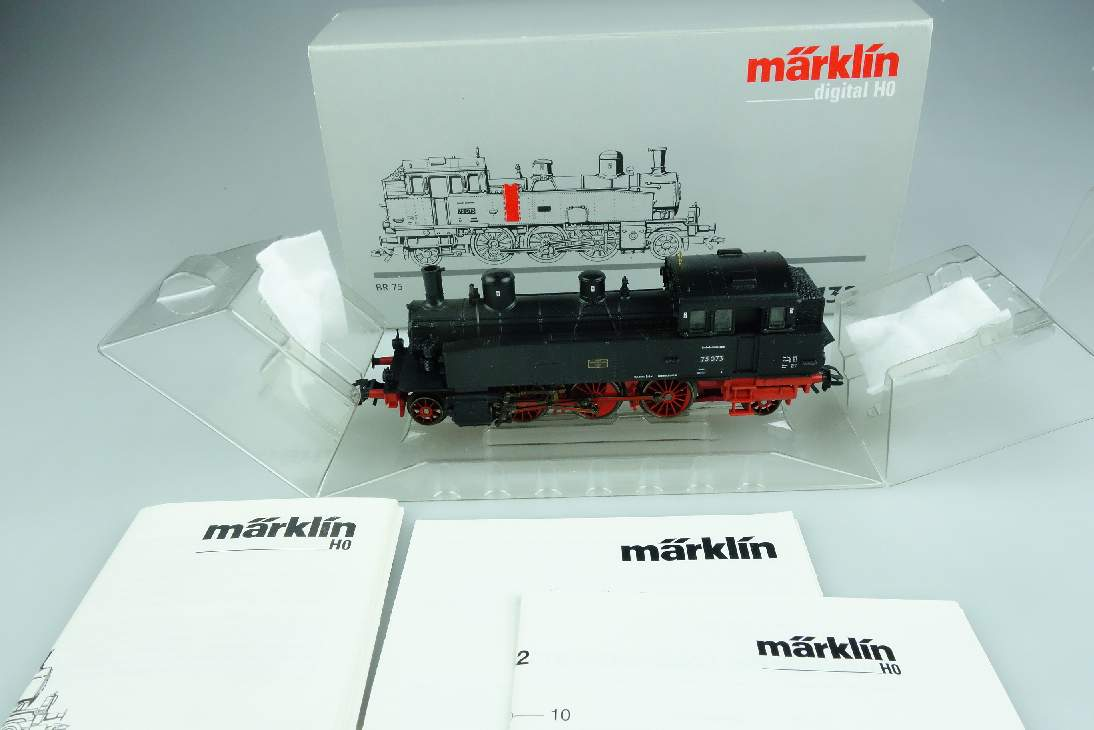 Märklin H0 Digital 37132 Dampflokomotive BR 75 073 DB OVP Pta 106405