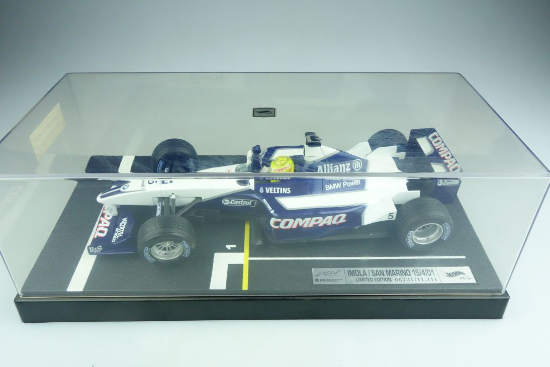 Hot Wheels 1/18 Williams Formel 1 Imola San Marino 2001 R.Schumacher  Box 508319
