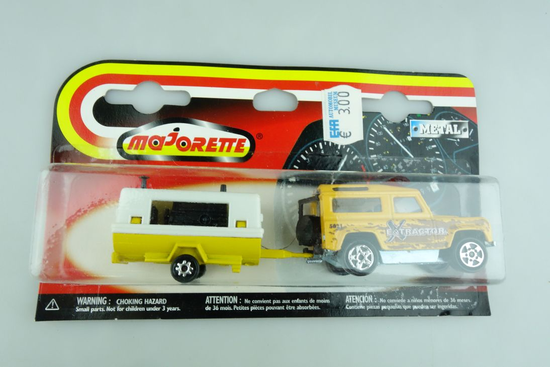 266 Majorette 1/60 Land Rover Defender & Compressor Extractor mit Box 508525