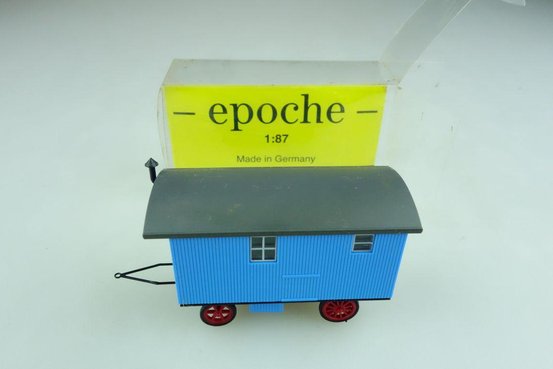 Epoche 1/87 Kleinserie Bauwagen Anhänger mit Box 508573