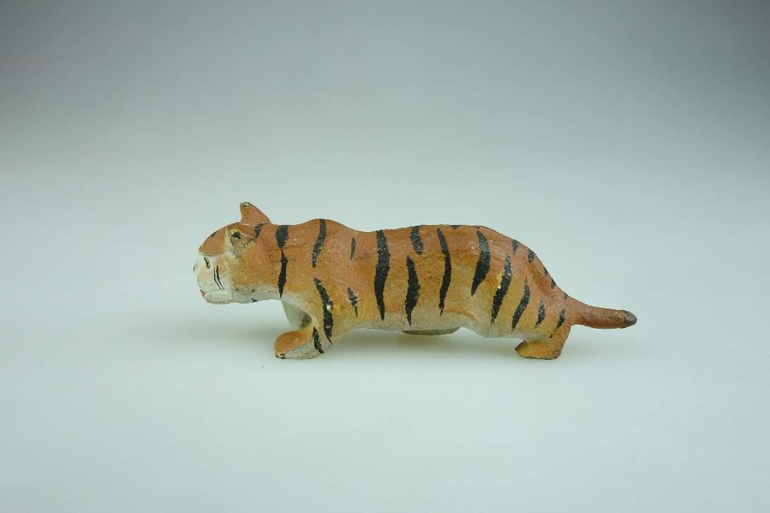 Alte LINEOL Masse Baby Tiger 5,8 cm lang Figur vintage animal toy 106602