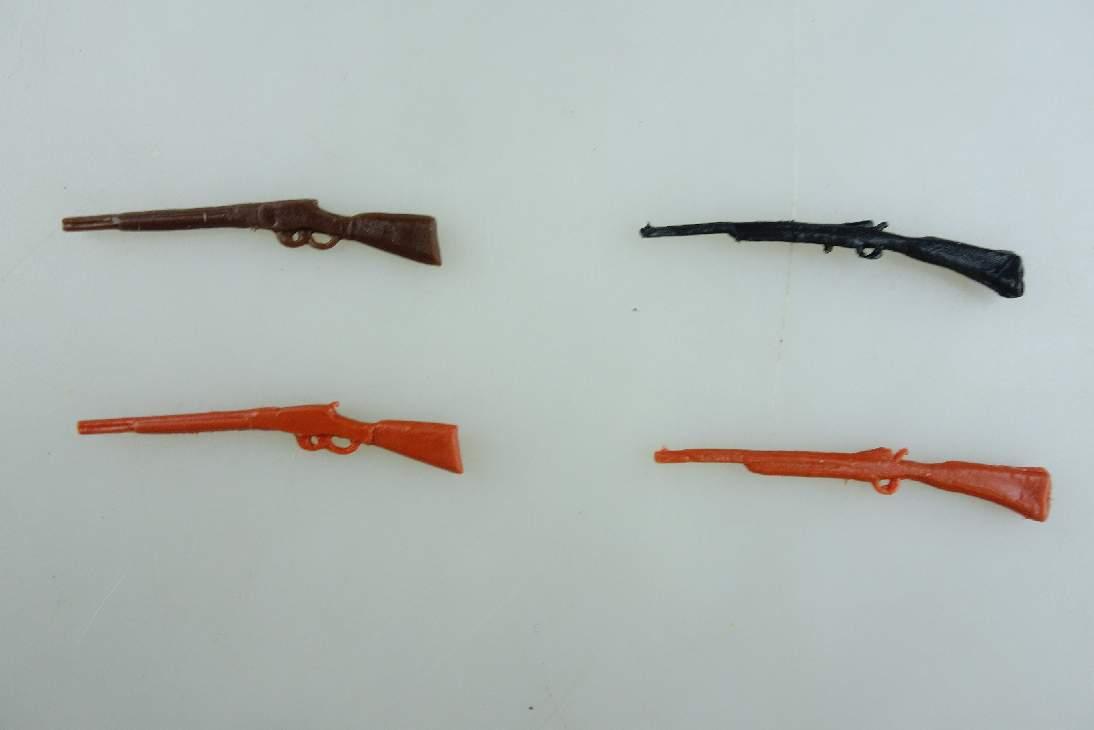 Timpo Toys 4x Gewehr braun dunkelbraun schwarz Variante Selten 106690