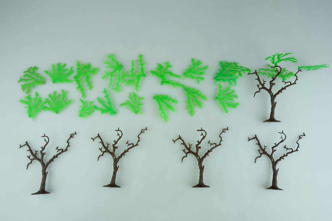 Timpo Toys 5 Bäume Baum steckbar Trees 106697