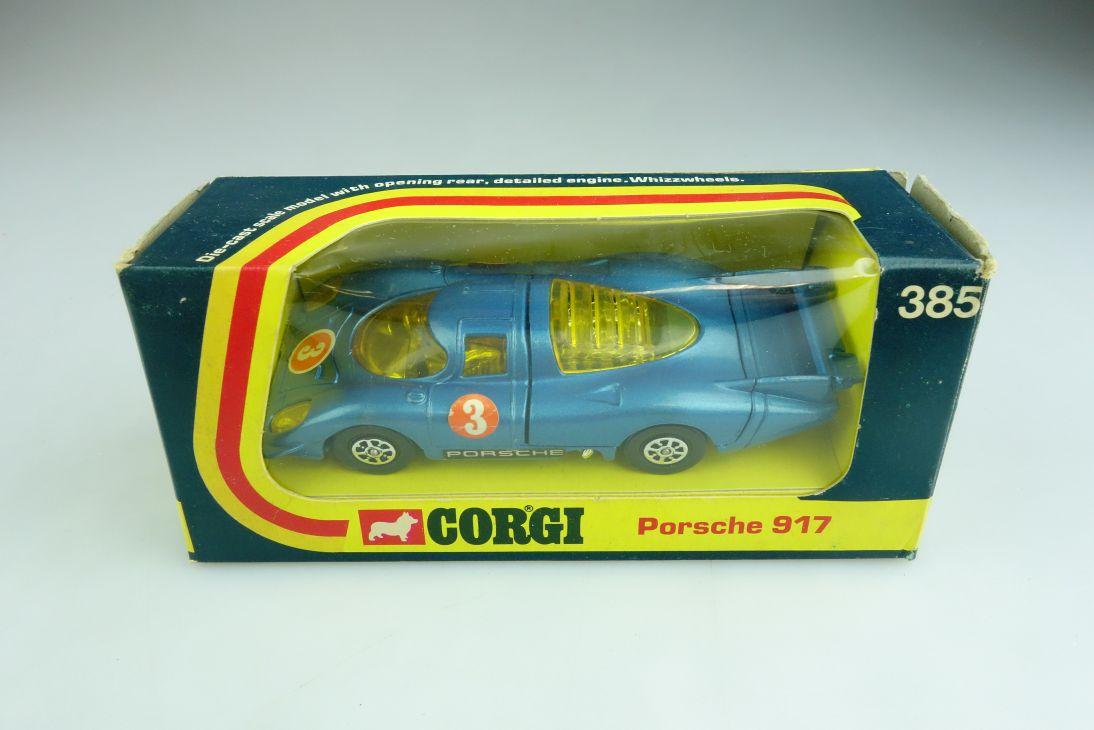 185 Corgi Toys 1/43 Whizzwheels Porsche 917 Racer Rennwagen mit Box 508659