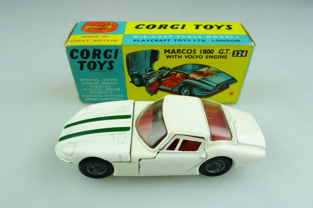 324 Corgi Toys 1/43 Marcos 1800 GT Coupe with Volvo Engine mit Box 508665