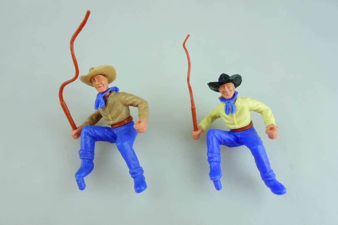 Timpo Cowboy 2 Kutscher beige gelb beide Hände geschlossen 3. Serie 106765