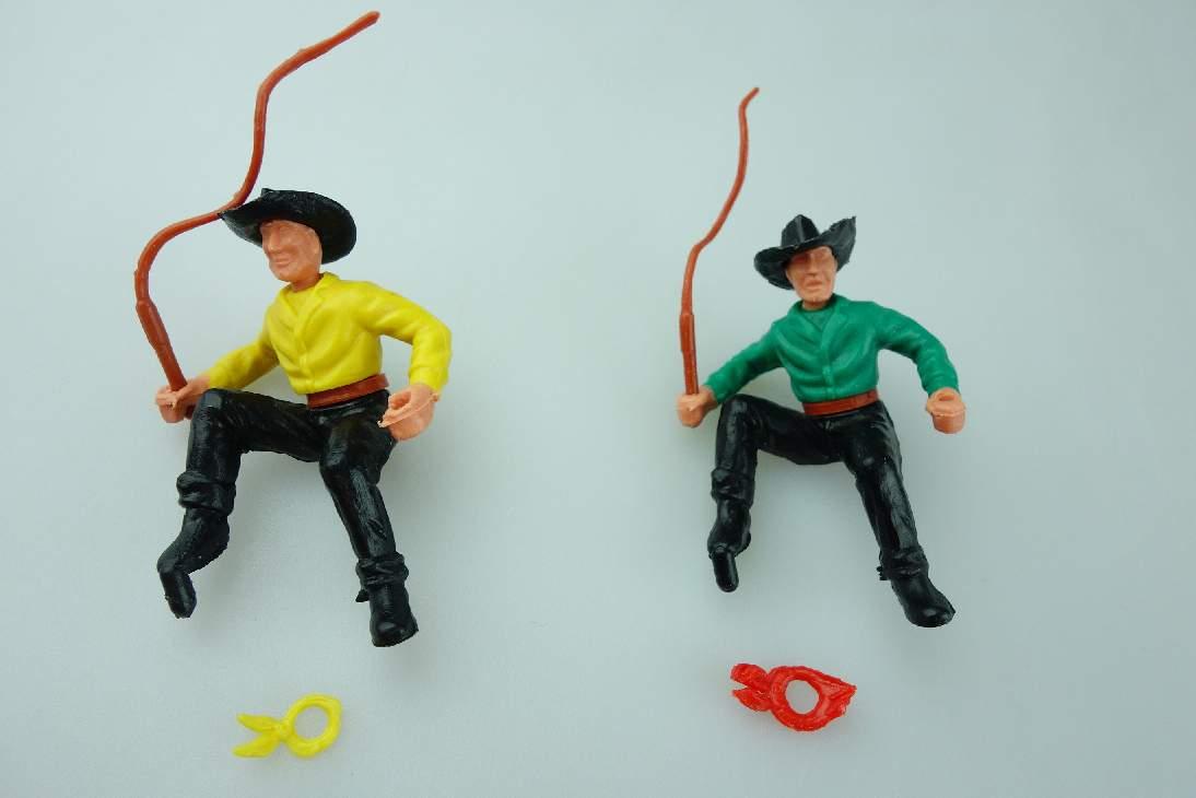 Timpo Cowboy 2 Kutscher schwarz grün gelb 3. Serie Version selten 106766