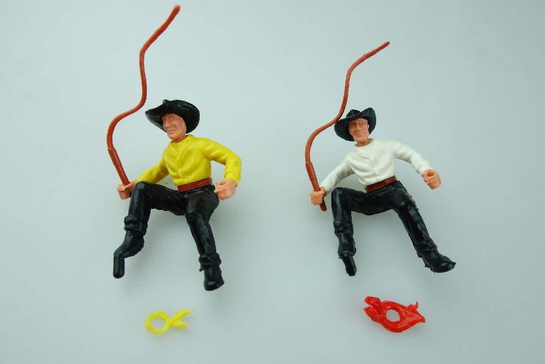 Timpo Cowboy 2 Kutscher schwarz weiß gelb 3. Serie Version selten 106767