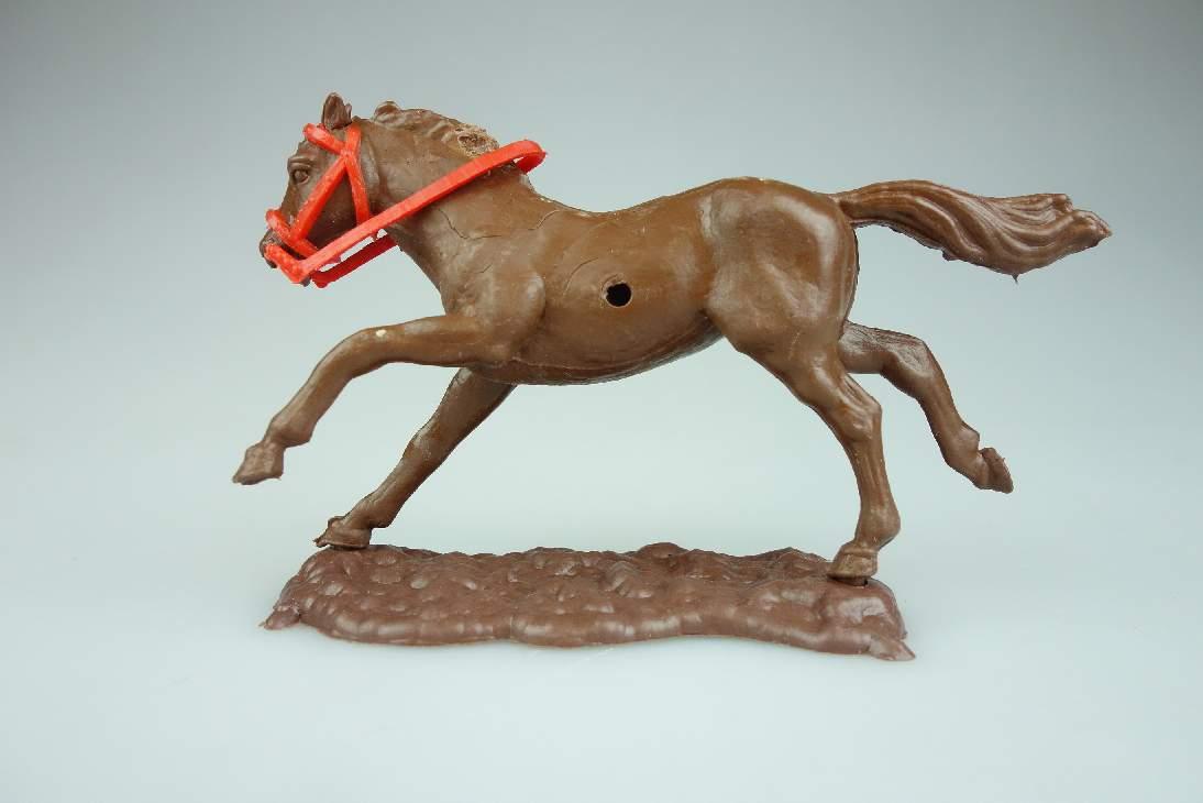 Timpo Pferde mit Zügel laufend schokobraun dunkel Variante selten horse 106770