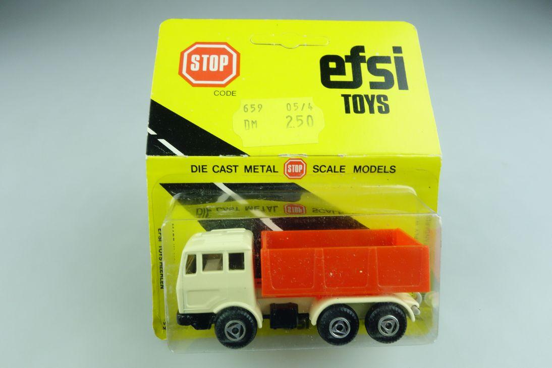 Efsi Toys 1/100 Holland Mercedes Benz Pritschen Zugmaschine mit Box 508794