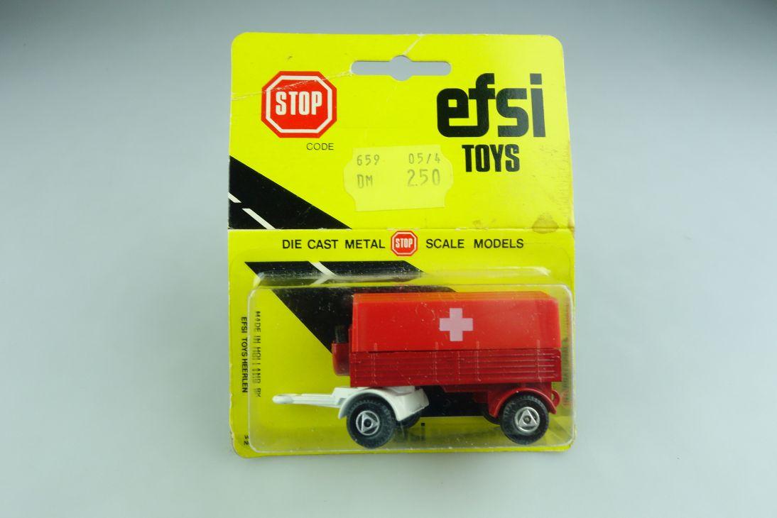 Efsi Toys 1/100 Holland LKW Truck Pritschen Trailer mit Box 508795