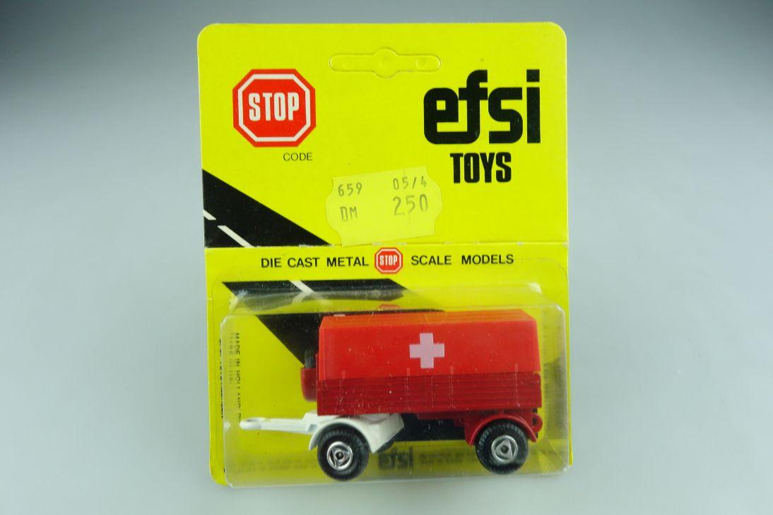 Efsi Toys 1/100 Holland LKW Truck Pritschen Trailer mit Box 508796