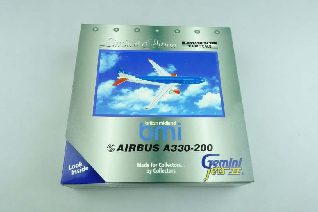 Gemini Jets 1/400 Airbus A330-200 British Midland bmi Limited mit Box 508881