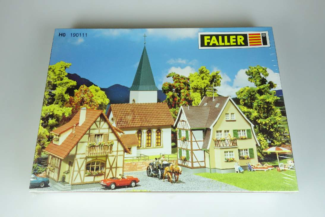 Faller 190111 H0 Dorf Set village 1:87 Bausatz Kit + Box 107050