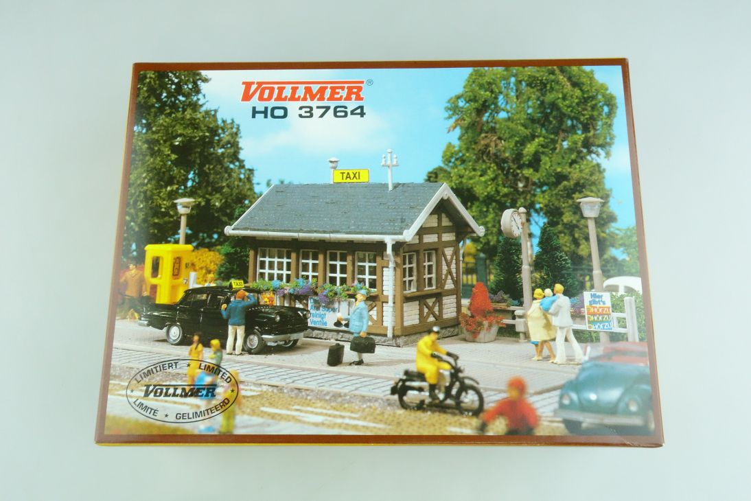 Vollmer H0 3764 Taxi Stand Station Kit Bausatz Box 107103