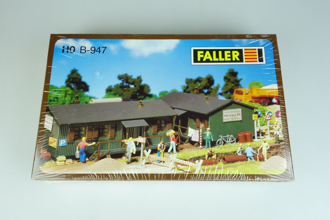 Faller H0 947 Baracke wooden hut baraque Bausatz kit B-947 Box 107118