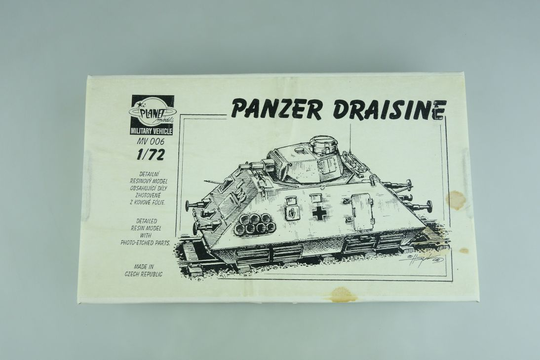Planet Models 1:72 Panzer Draisine tank Resin Fotoätzteile MV006 Kit 107217