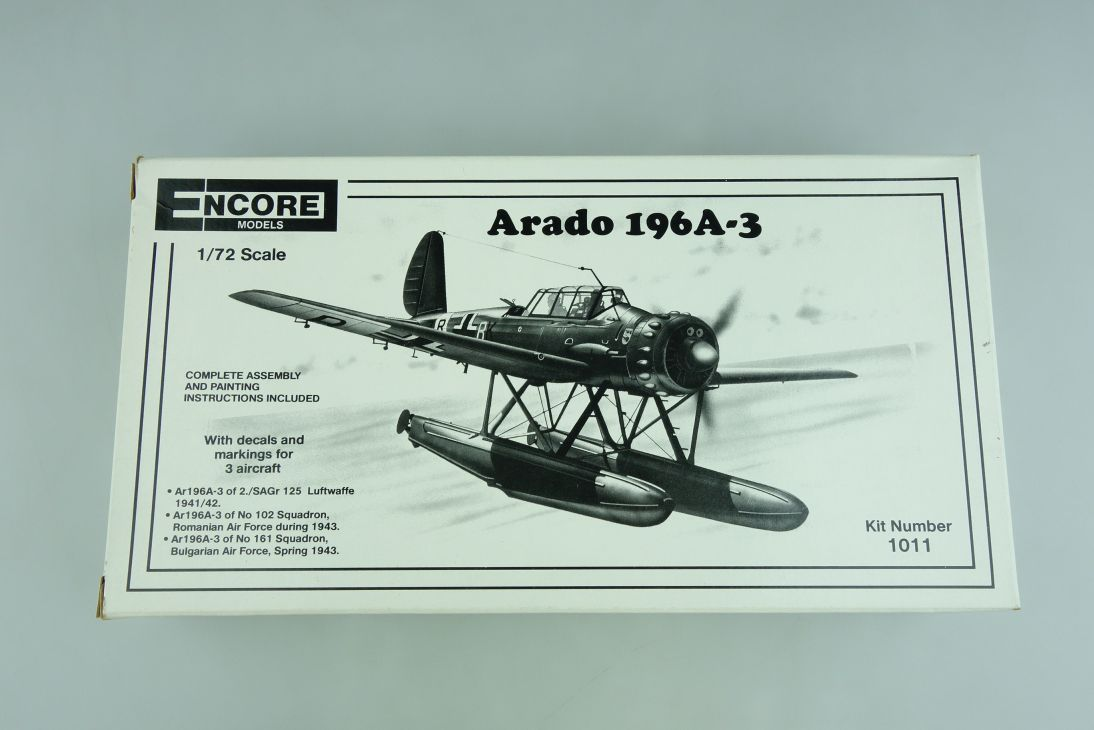 Encore Models 1:72 Arado 196A-3 Propeller Plane Kit 1011 107223