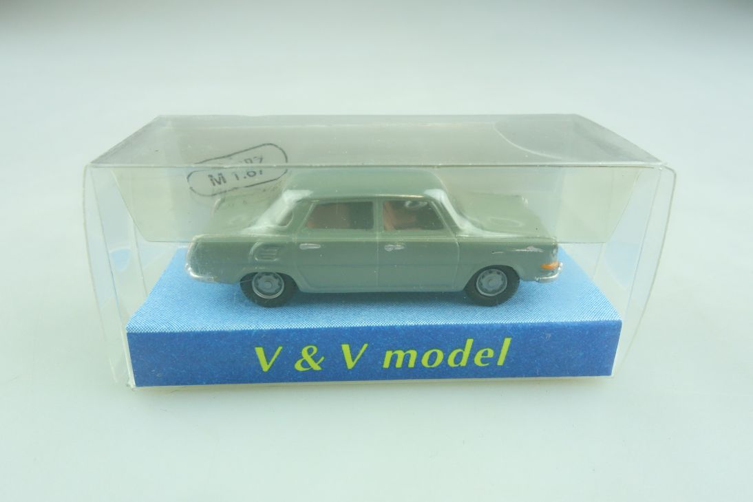 1415 V&V Metall Model Kleinserie 1/87 Skoda 1000 MB grey DDR mit Box 509634