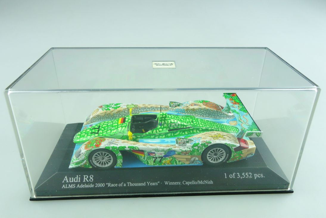 Minichamps 1/43 Audi R8 ALMS Race of a Thousand Years Capello mit Box 509865
