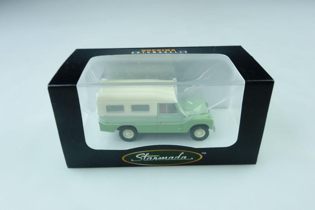 13761 Brekina 1/87 Land Rover WB 109 Station Wagon Starmada mit Box  509950