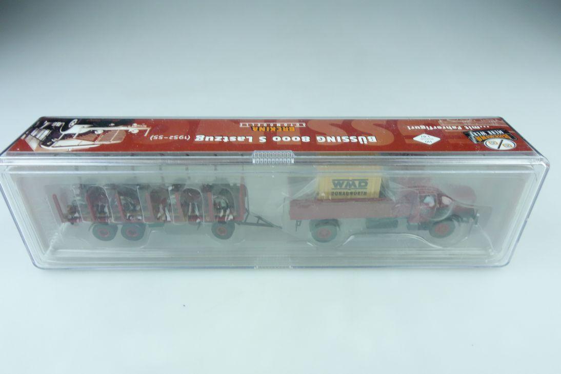 74510 Brekina 1/87 Büssing 8000 S Lastzug WMD Drehgestelle mit Box 509956