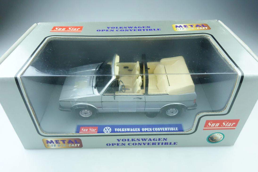 Sun Star 1/18 VW Golf 1 Cabriolet Volkswagen Convertible mit Box 510030
