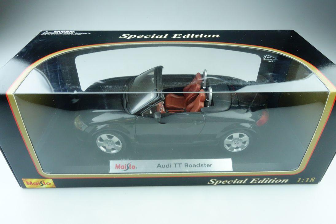 Maisto 1/18 Audi TT Roadster black Special Edition mit Box 510057
