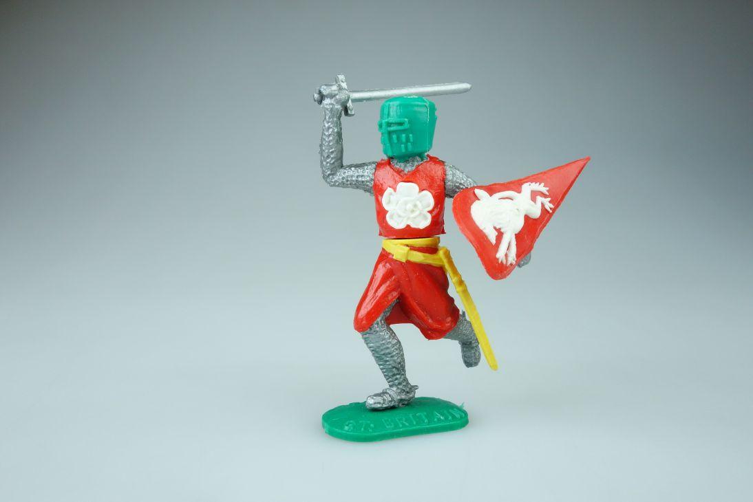 Timpo Ritter rot weiß Topf Helm grün Variante knight 107403