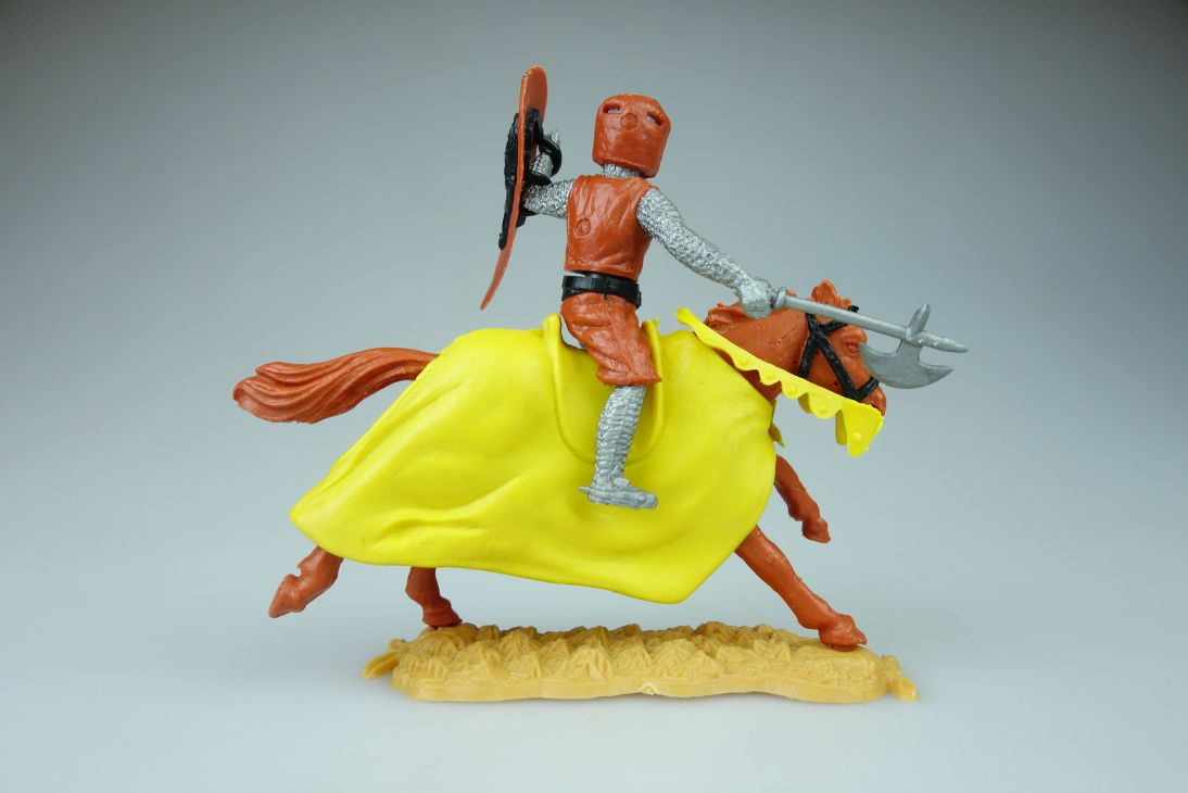 Timpo Topf Helm Ritter Reiter braun gelb Helm Variante braun knight 107408