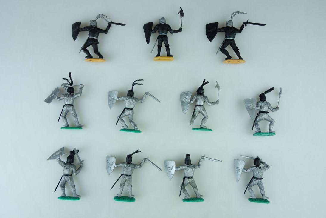 Timpo 8x Silber Ritter 3x schwarzer Ritter knights 107421