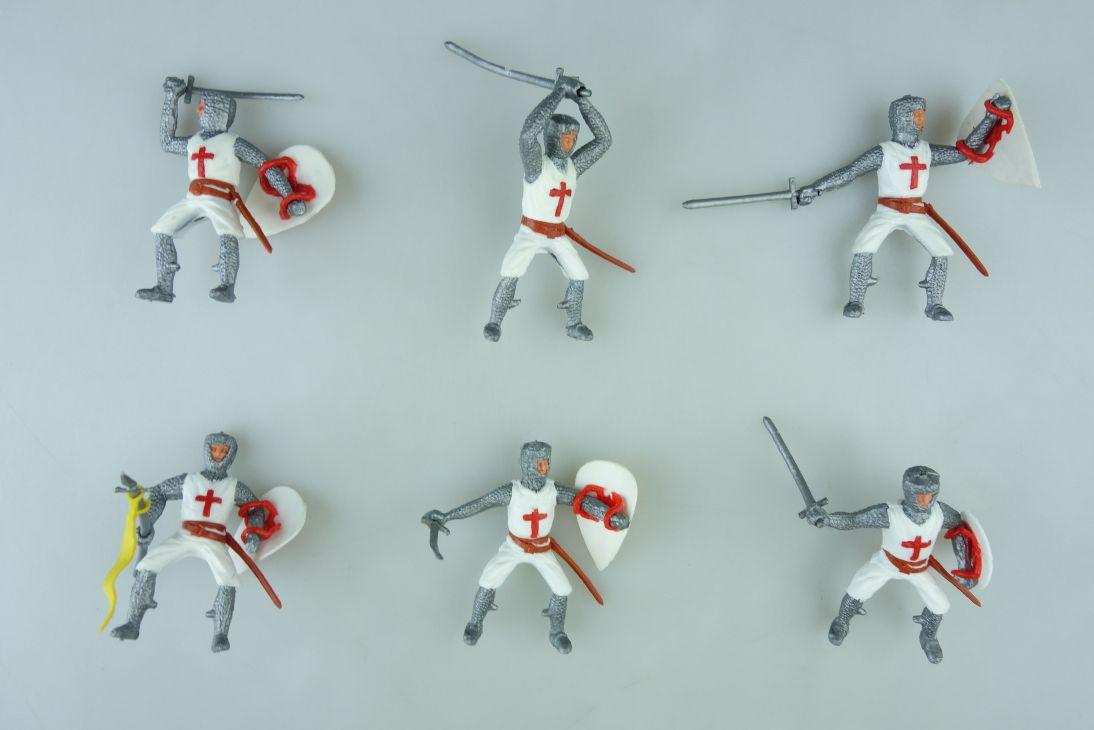 Timpo 6 Kreuzritter mit Reiter Unterteil Komplettsatz 1 Version knights 107422