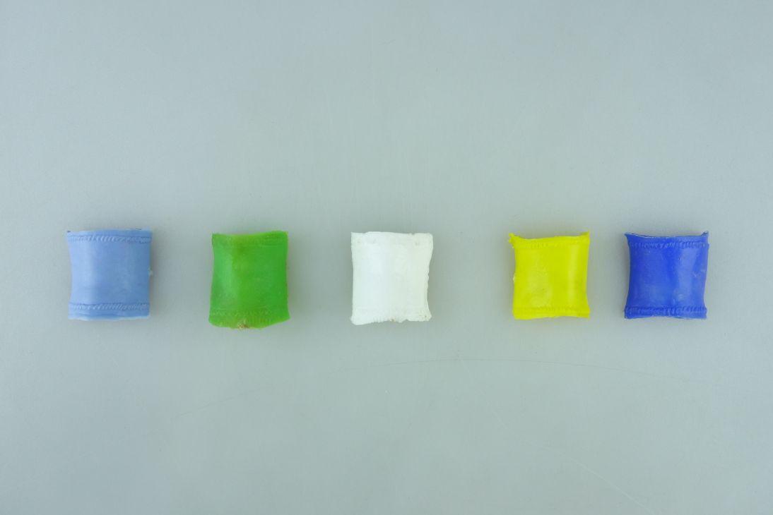 Timpo 5 Sattel Decken hell grün blau zitronengelb weiß selten Ersatzteile 107436