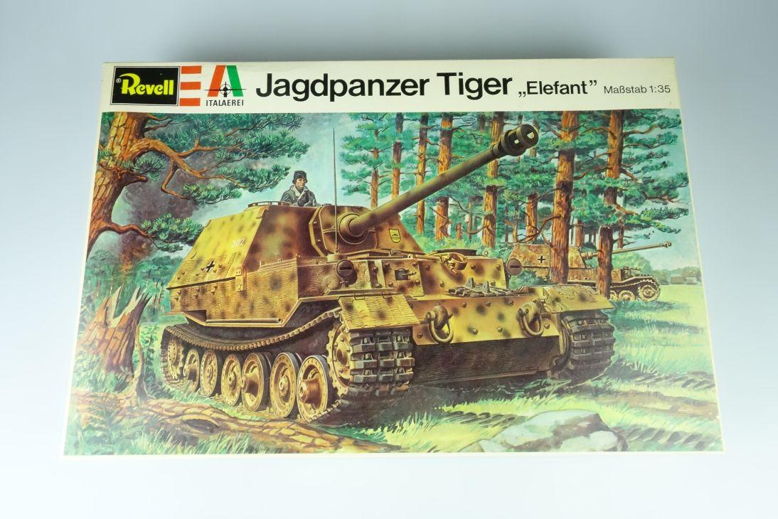Italaerei H-2105 italeri 1:35 Jagdpanzer Tiger Elefant tank Kit Box 107572