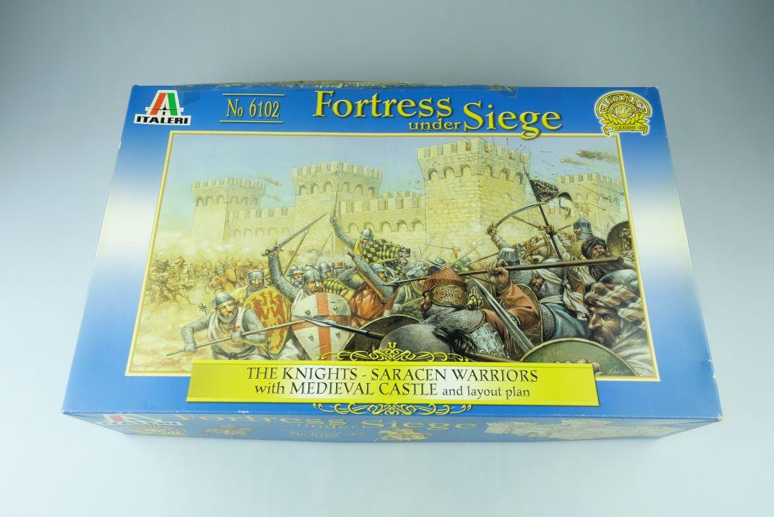 Italeri 1:72 Fortress under Siege knights saracen war castle kit 6102 Box 107578