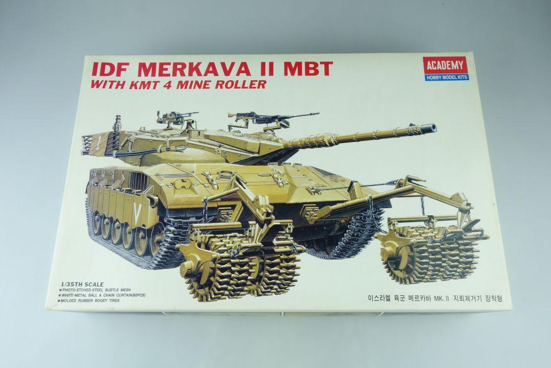 Academy 1/35 IDF Merkava II MBT 4 mine roller tank Panzer kit 1359 Box 107579