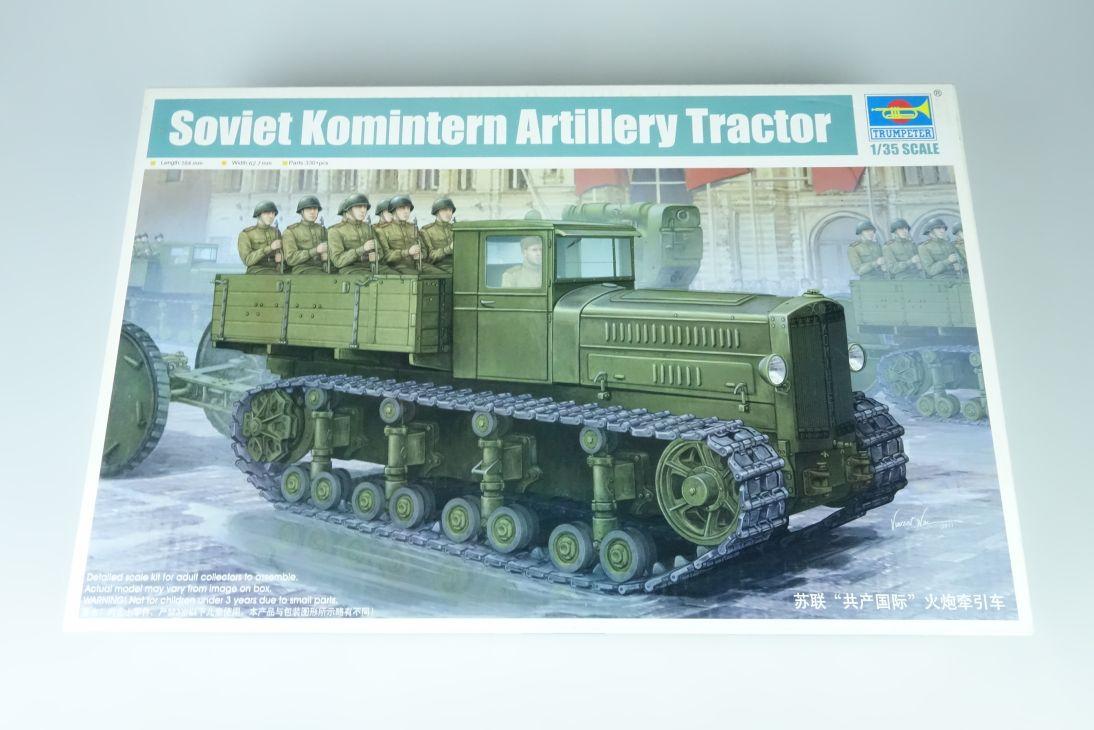 Trumpeter 1:35 Soviet Komintern Artillery Tractor tank kit 05531 Box 107582