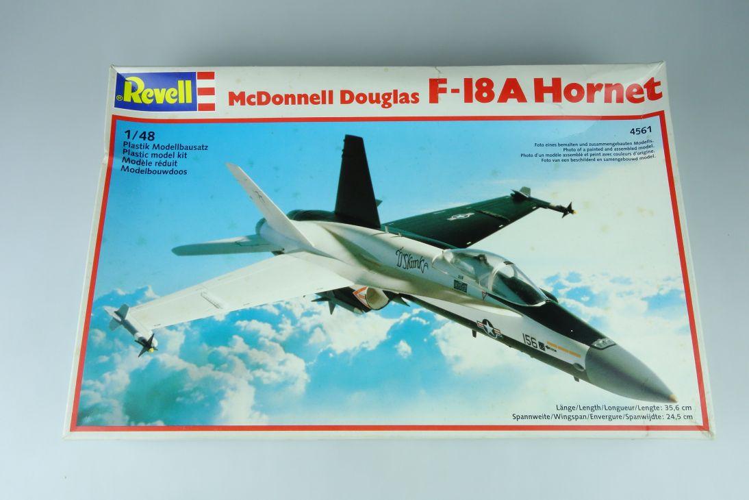 Revell 1/48 McDonnell Douglas F-18A Hornet L35,6cm kit 4561 Bausatz Box 107585