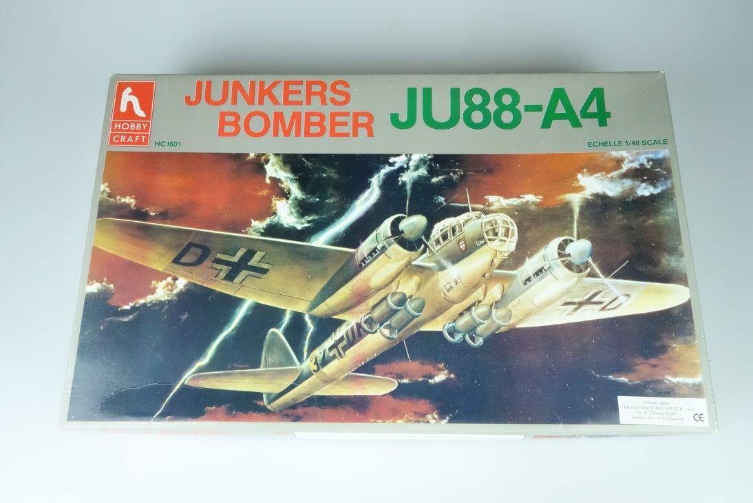 Hobby Craft 1:48 JU88-A4 Junkers Bomber kit HC1601 Bausatz Box 107586