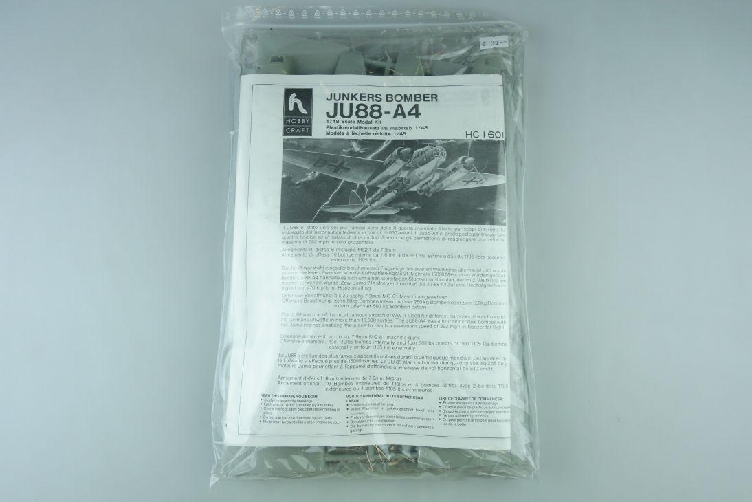 Hobby Craft 1:48 JU88-A4 Junkers Bomber kit HC1601 Bausatz 107589