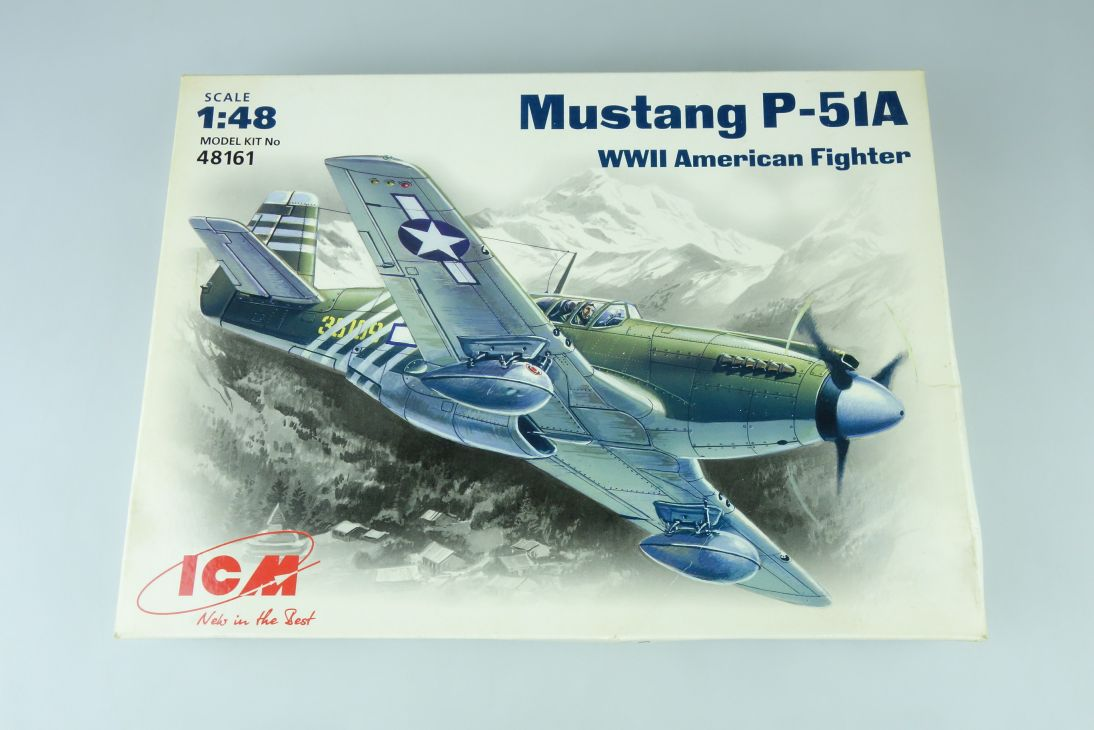 ICM 1:48 Mustang P-51A WWII American Fighter Prop Plane Kit 48161 Box 107665